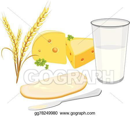 Cheese clipart illustration. Vector art milk white