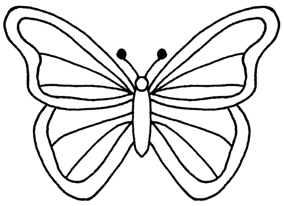 Moth clipart outline. Monarch butterfly drawing free