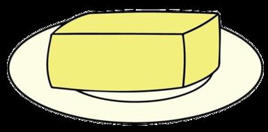 Pancake day by highfive. Butter clipart grade a
