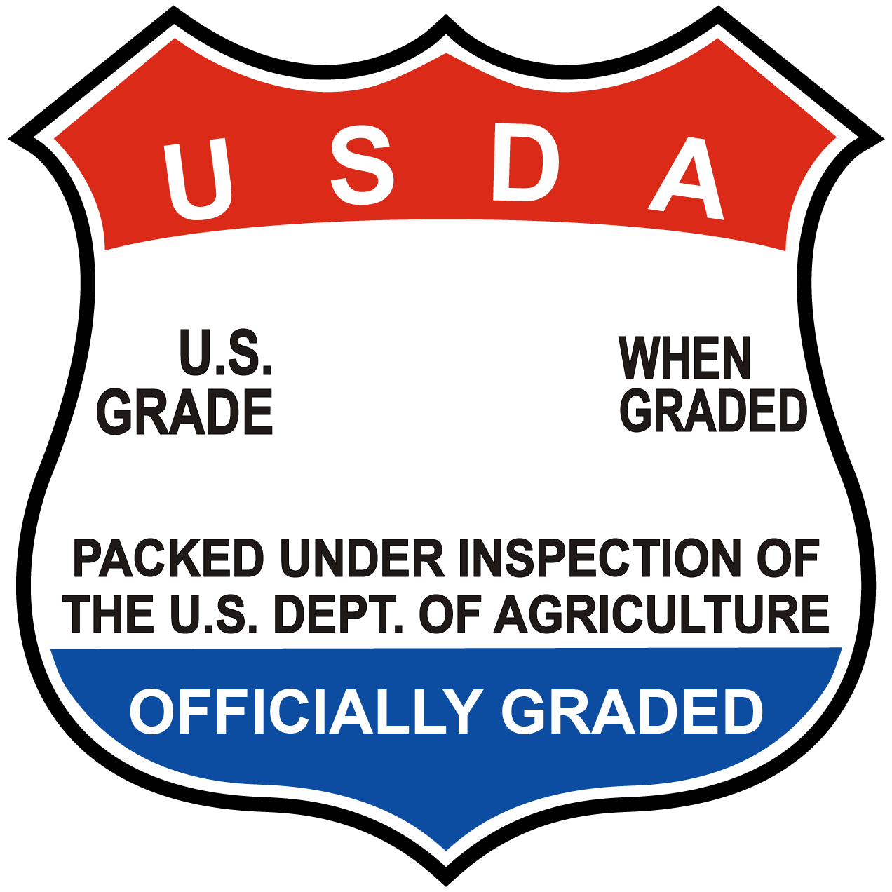 Dairy official quality shields. Butter clipart grade a