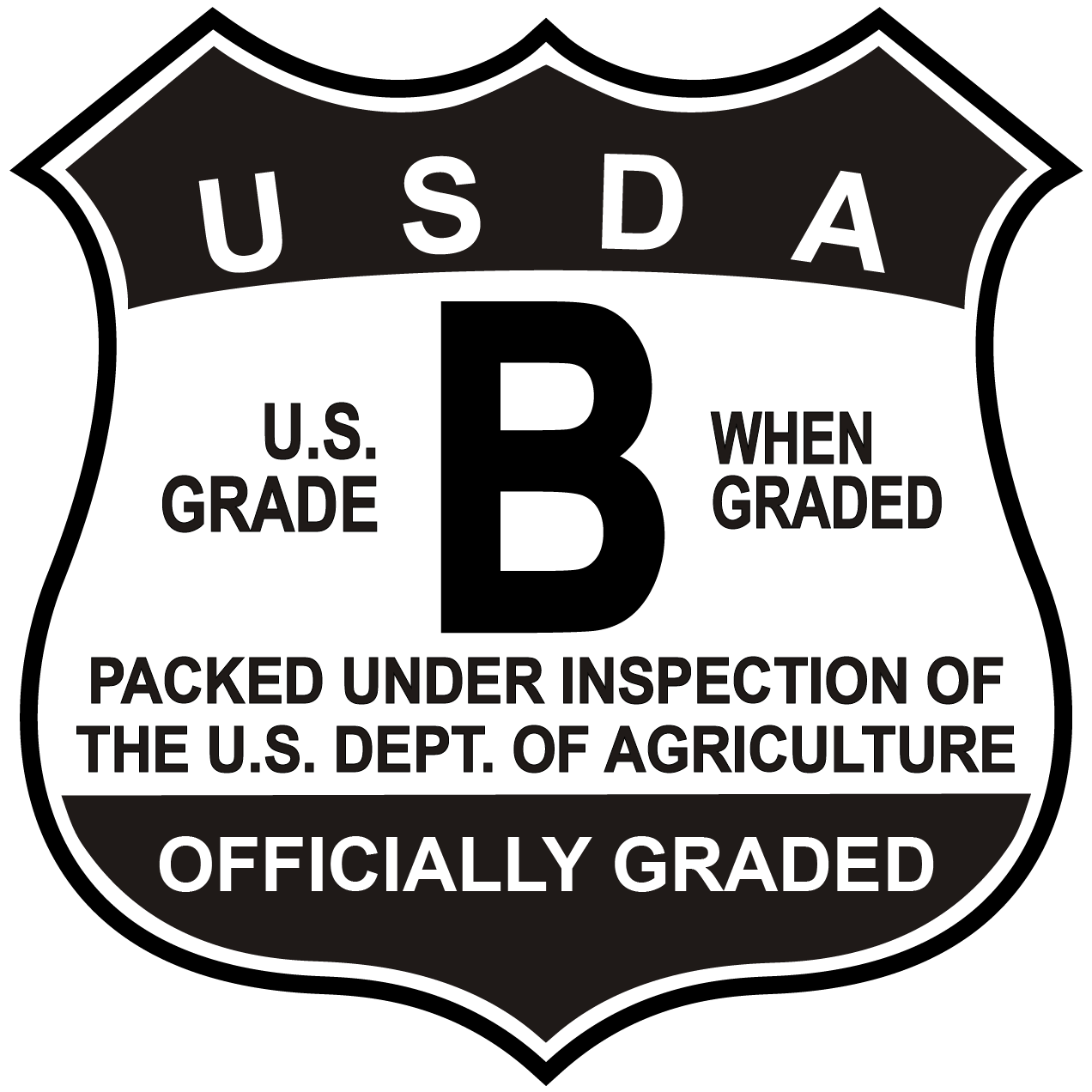 Butter clipart grade a. Dairy official quality shields