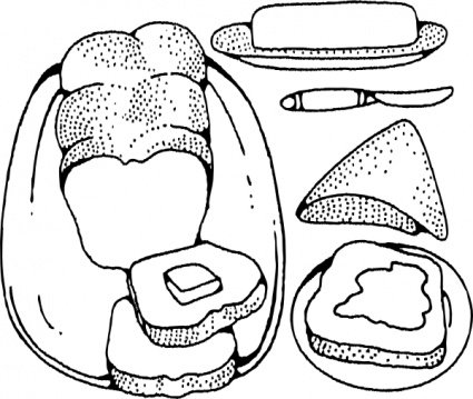 Butter clipart outline. Free bread and vector