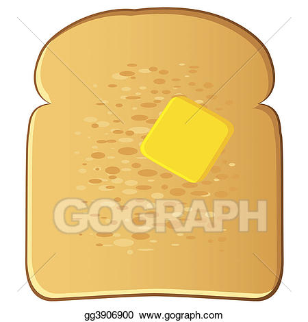 Drawing with gg gograph. Butter clipart toast butter