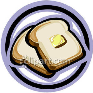 Butter clipart toast butter. A plate of bread