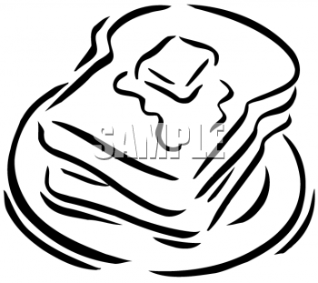Butter clipart toast butter. Black and white on