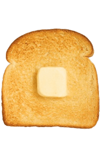Cube of butter on. Breakfast clipart transparent background