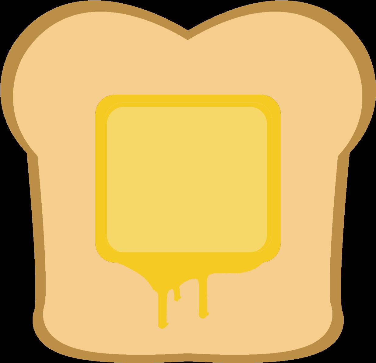 Butter clipart toast butter. Hd buttered