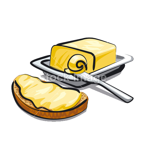 Breakfast free content clip. Butter clipart yellow food