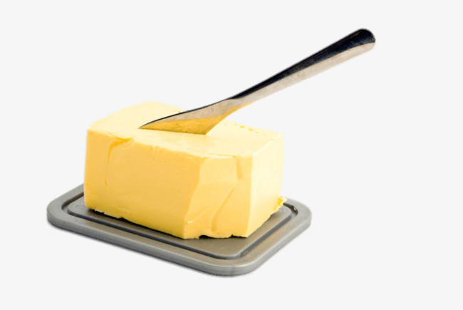 Product material png image. Butter clipart yellow food