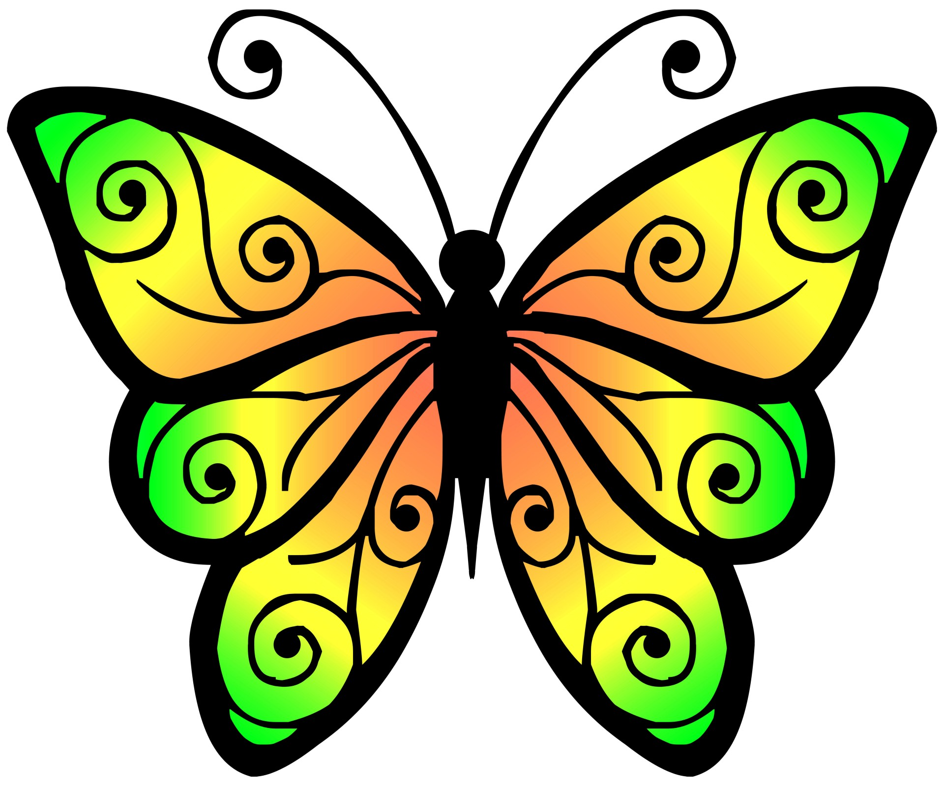 Clipart butterfly. Free stock photo public