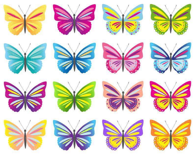 Clip art digital butterflies. Butterfly clipart