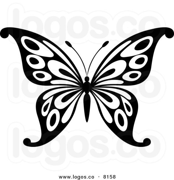 Butterfly clipart black and white. Panda free images