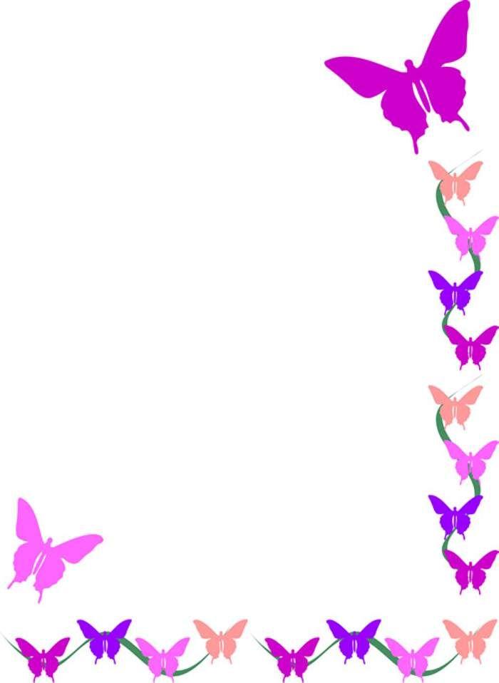 Butterfly clipart boarder. Free clip art borders
