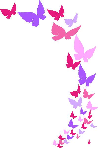 Butterflies border clipartfest clipartix. Boarder clipart butterfly