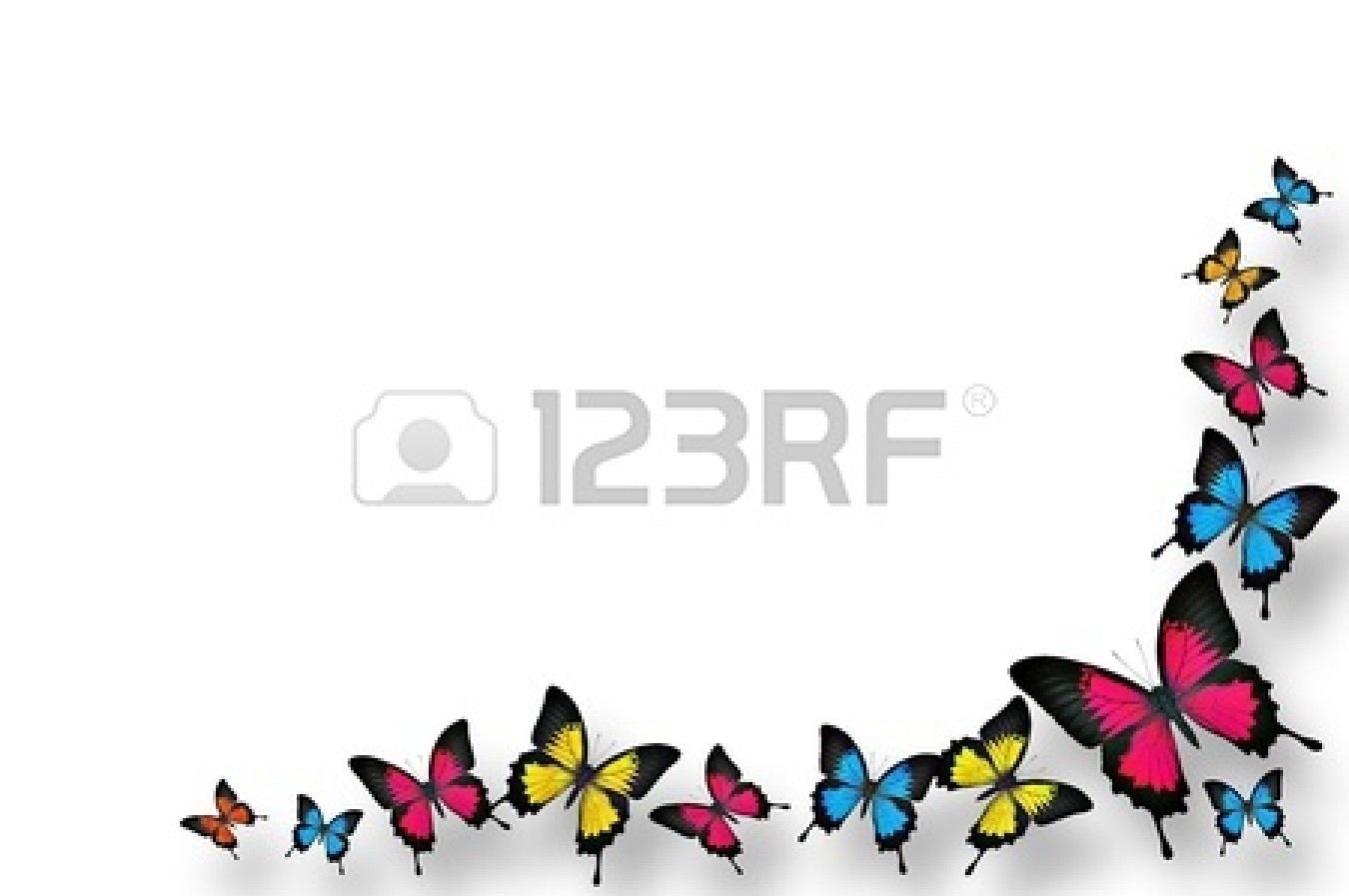 Border panda free images. Butterfly clipart corner