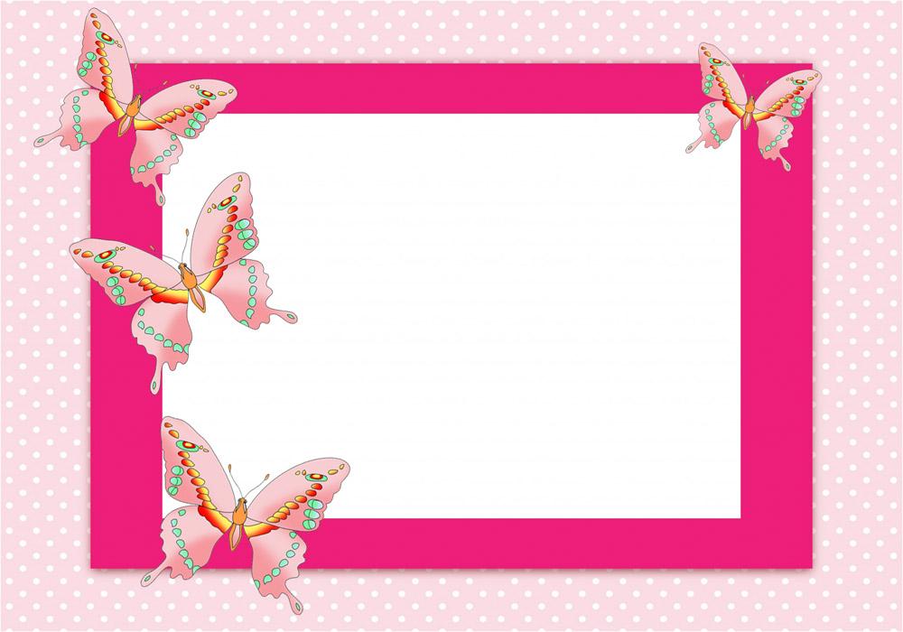 Border clip art free. Boarder clipart butterfly