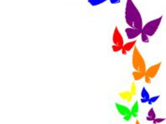 Butterfly outline free on. Blue clipart borderline