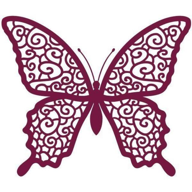 Butterfly clipart burgundy. Personalised white or ivory