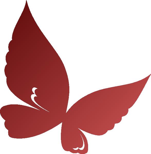 Clip art at clker. Clipart butterfly burgundy