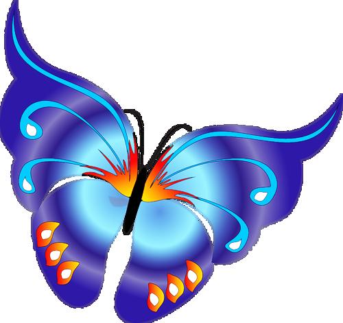 Butterfly clipart cartoon. Blue gallery yopriceville high