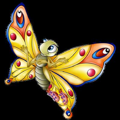 Cartoon clipart butterfly. News