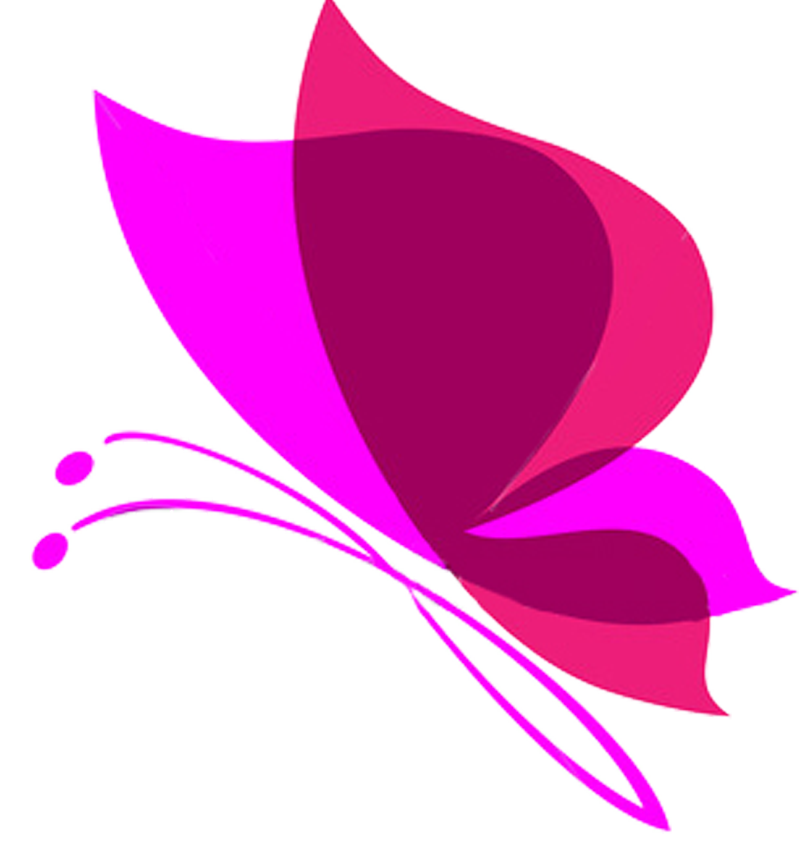 Pink transparent background mart. Butterfly vector png