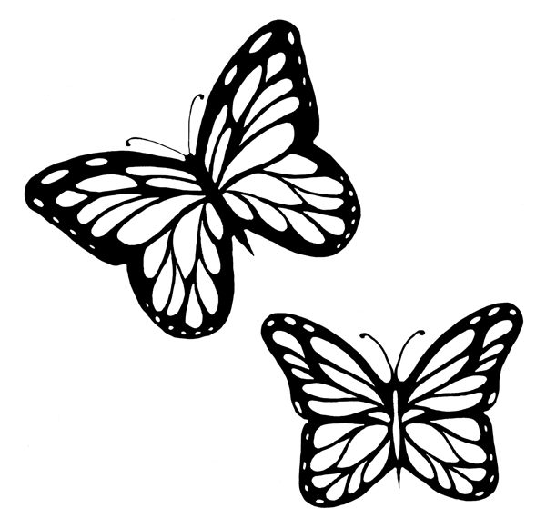 Butterfly clipart corner. Indian artists may panda
