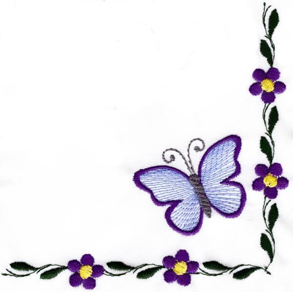 Butterfly clipart corner. Applique