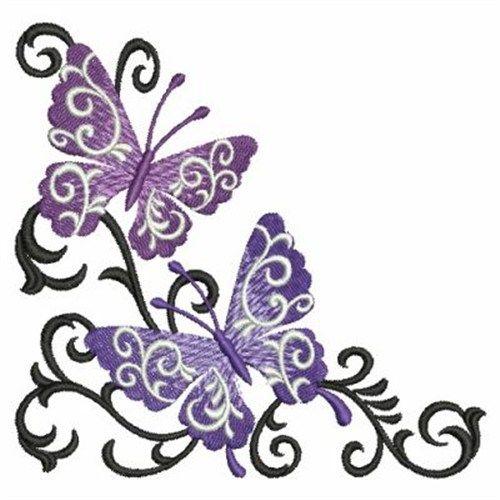 Butterfly clipart corner. Scroll design panda free