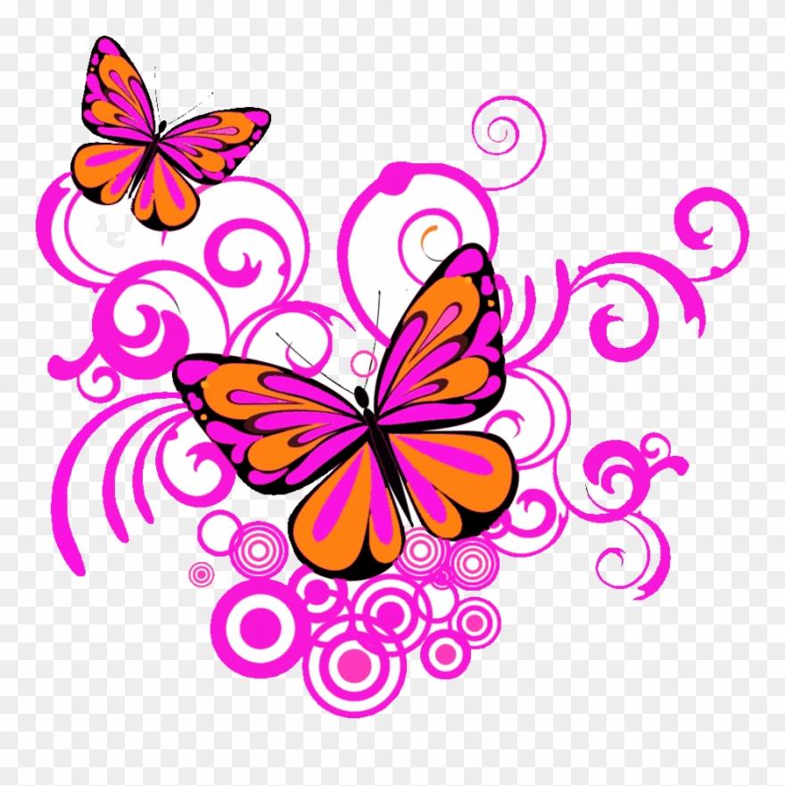 Butterfly clipart corner. Designs png clip art