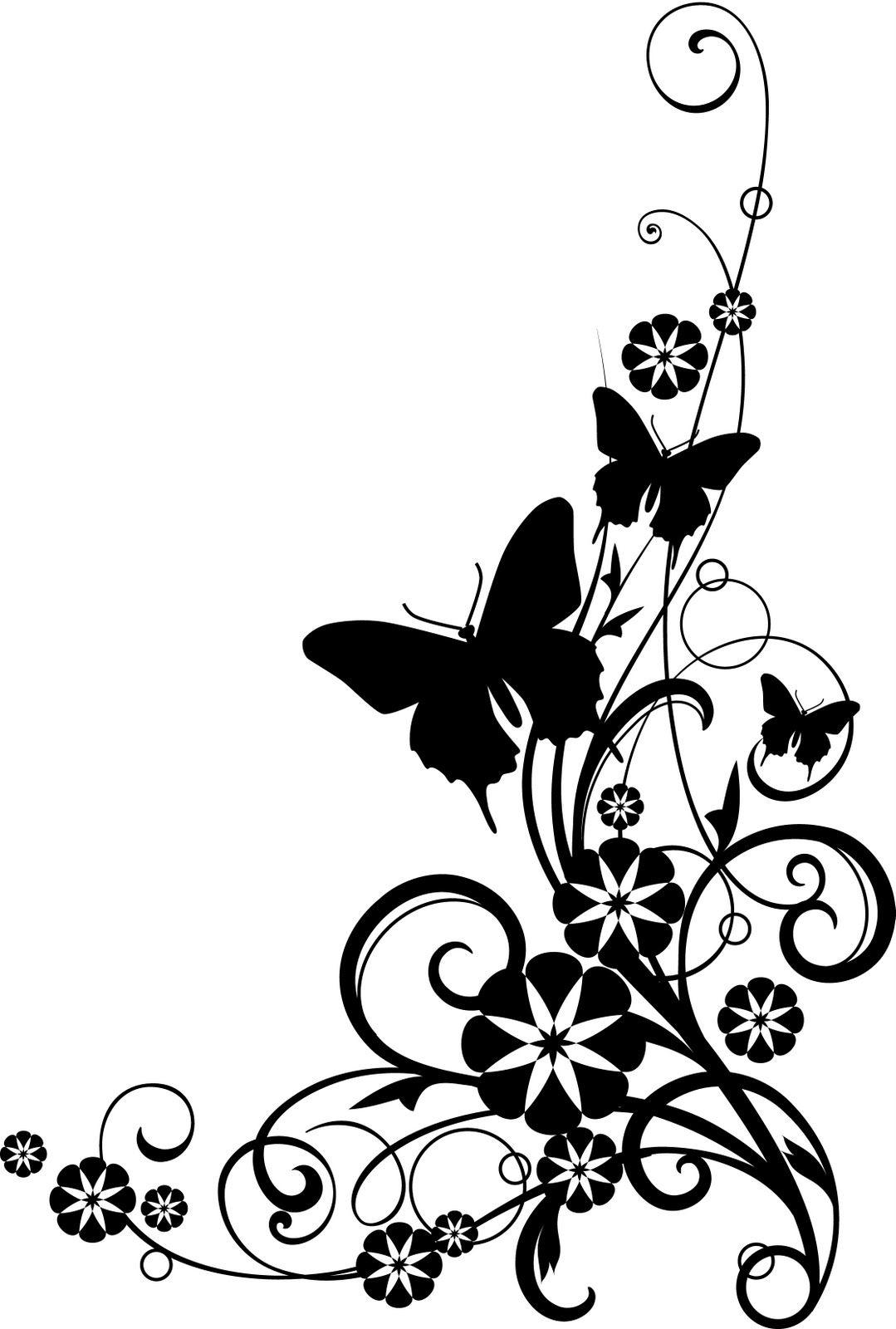Butterfly clipart corner. Clip art free borders
