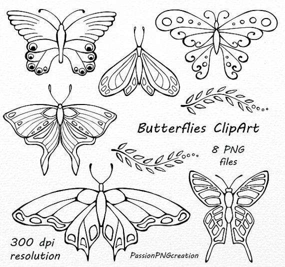 Butterflies clipart doodle. Butterfly vector clip art