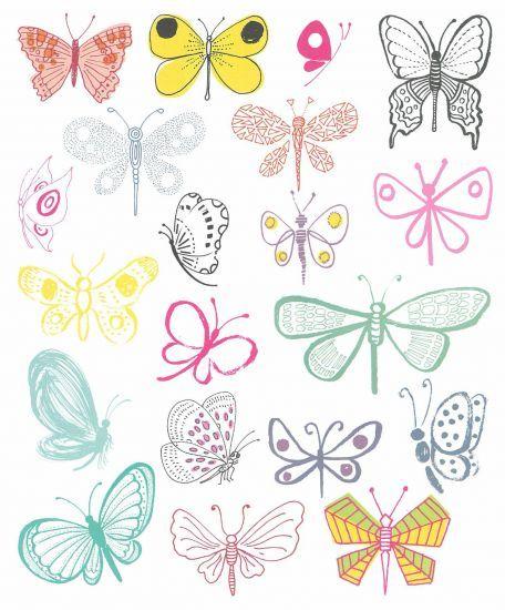 Butterflies clipart doodle.  best dragonflies images