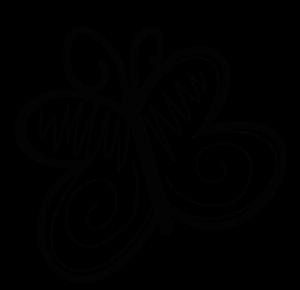 Logo running fitness and. Butterflies clipart doodle
