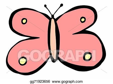 Stock illustration butterfly gg. Butterflies clipart doodle