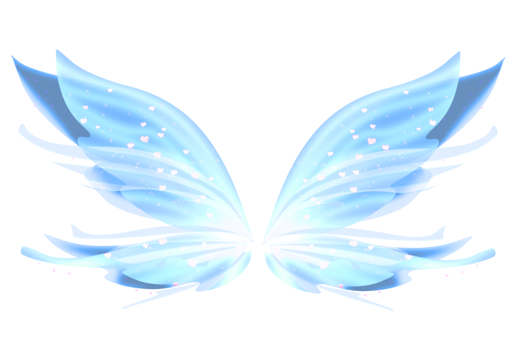 Butterfly clipart enchanted. Auction blue mythix wings