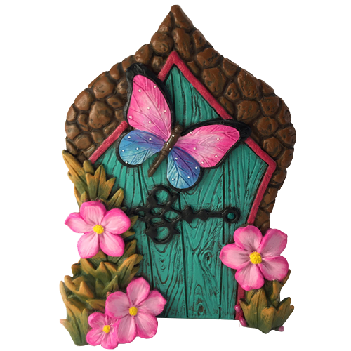 Miniature fairy door for. Butterfly clipart enchanted