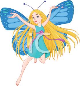 Butterfly clipart angel. A fairy with big