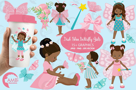 Girls princess ilxn. Butterfly clipart fairy