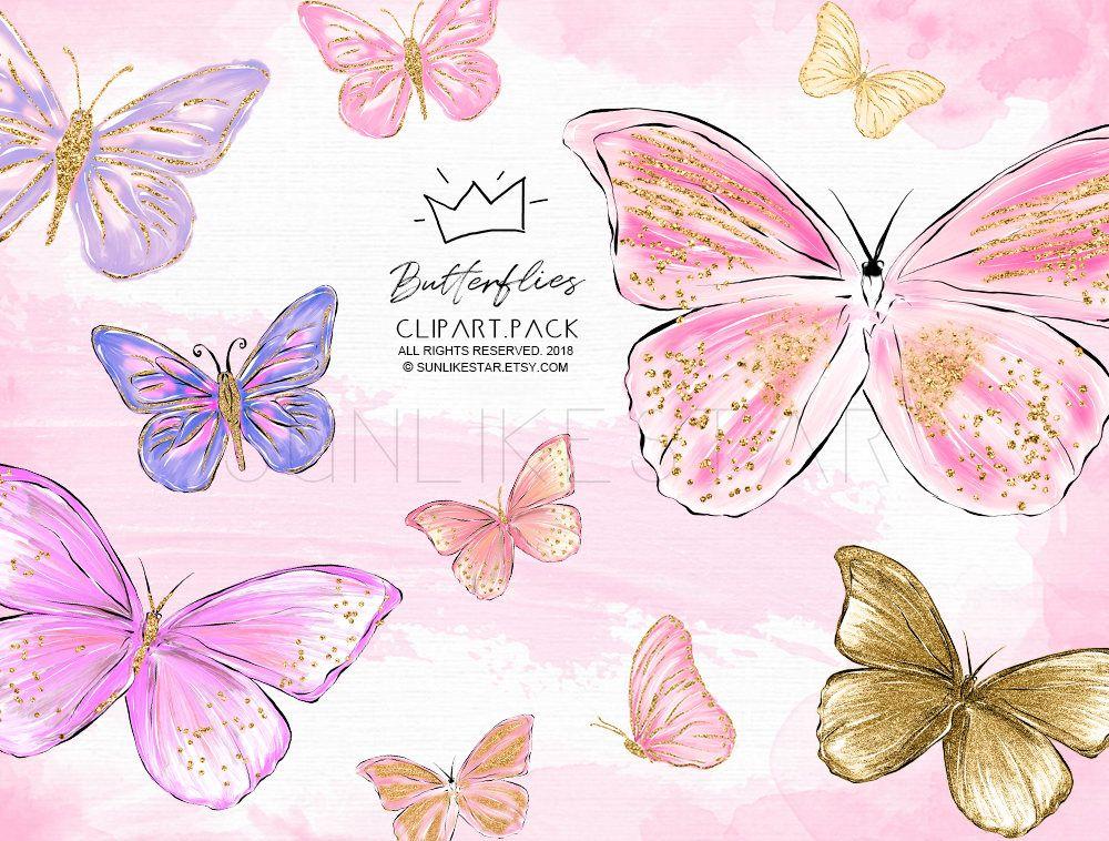 Butterfly clipart fairy. Glitter glam clip art