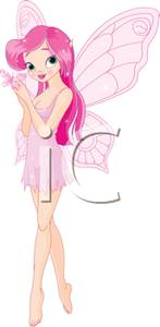 A pink holding small. Butterfly clipart fairy