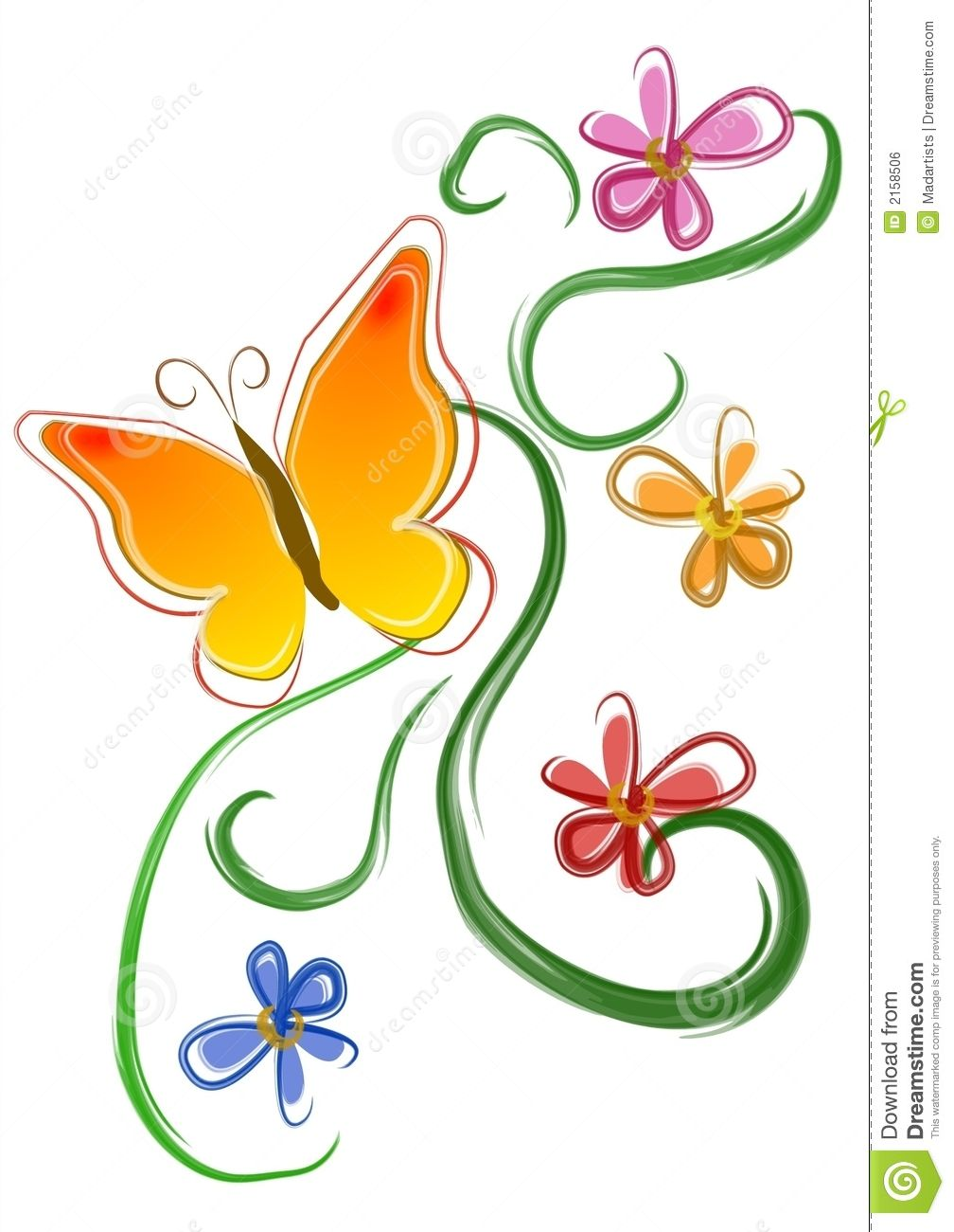 Flowers clip art royalty. Flower clipart butterfly