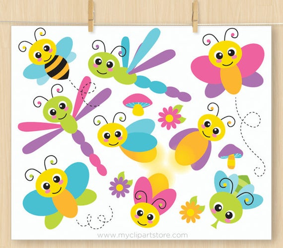 Worm clipart purple bee. Flying bugs cute insects