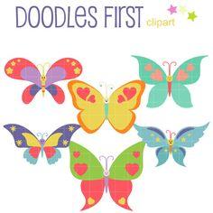 Stickers planner happy butterflies. Butterfly clipart kawaii