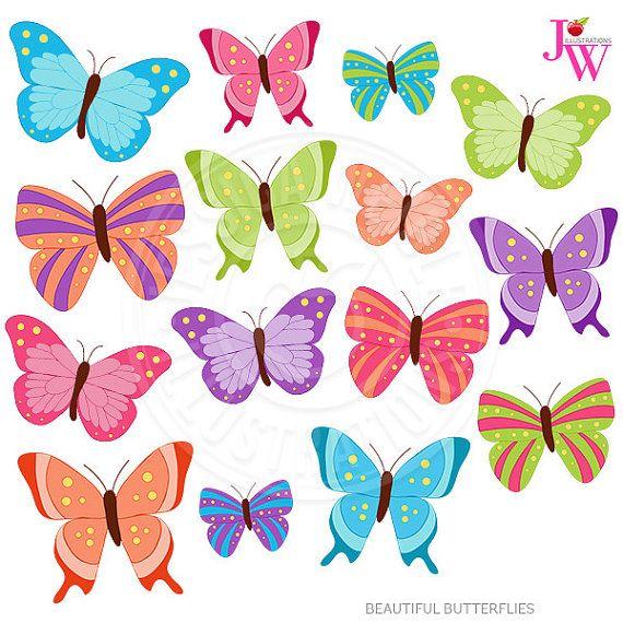 Butterfly clipart kawaii.  best butterflies images