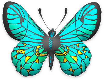 Animated gifs blue and. Butterfly clipart light green