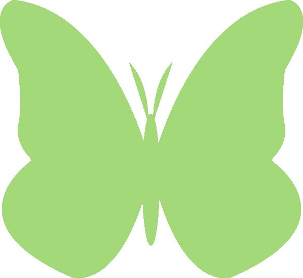 Clip art at clker. Butterfly clipart light green