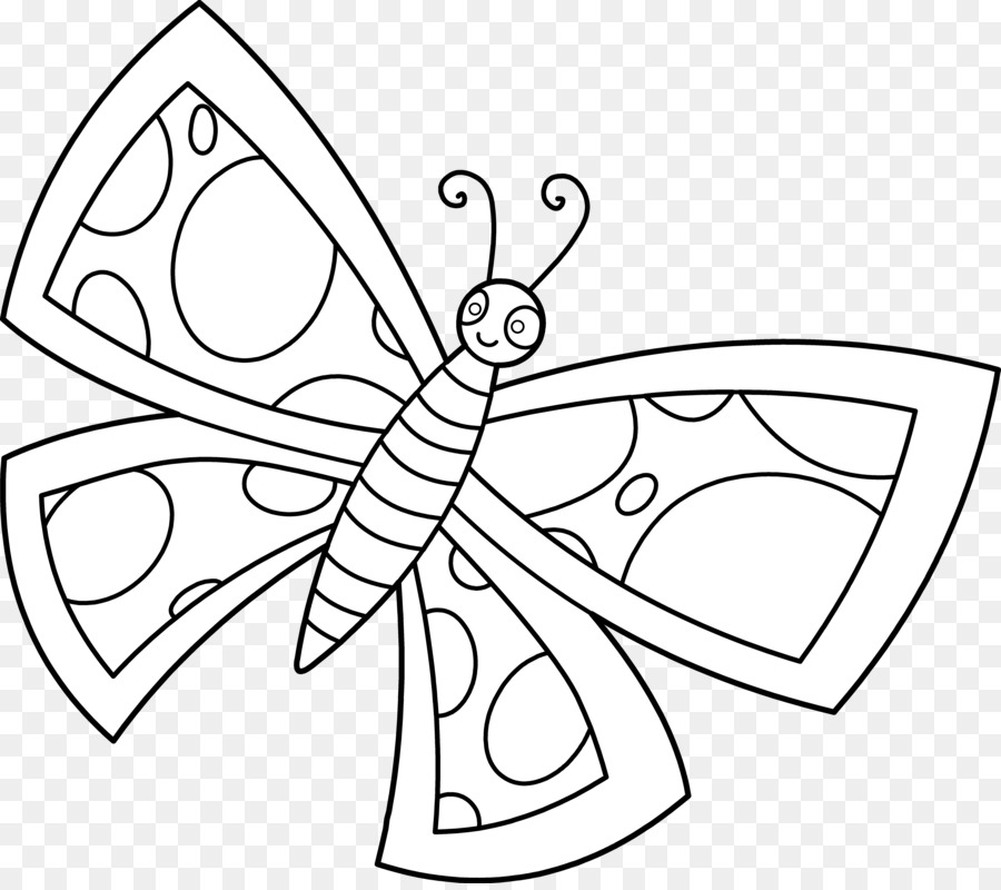 butterfly clipart line drawing