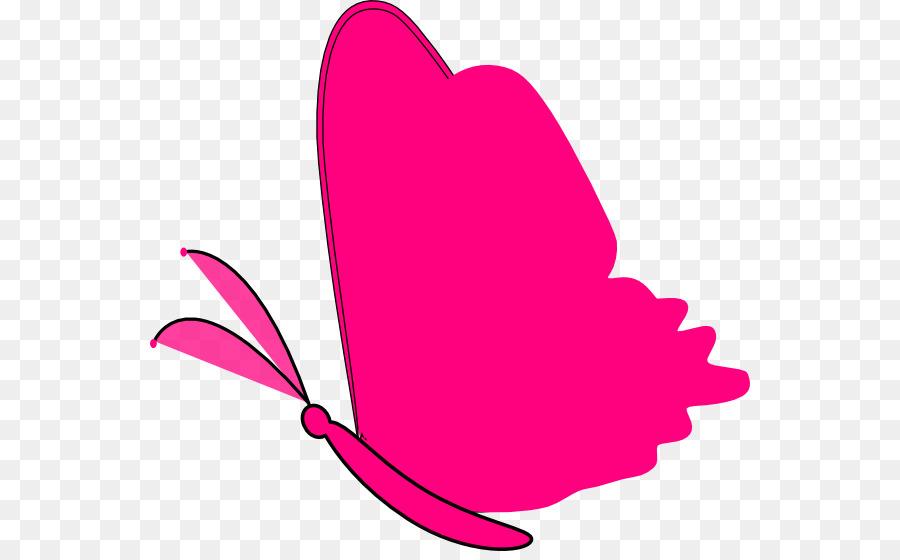 Green clip art pink. Butterfly clipart magenta