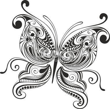 best tattoos images. Butterfly clipart mandala